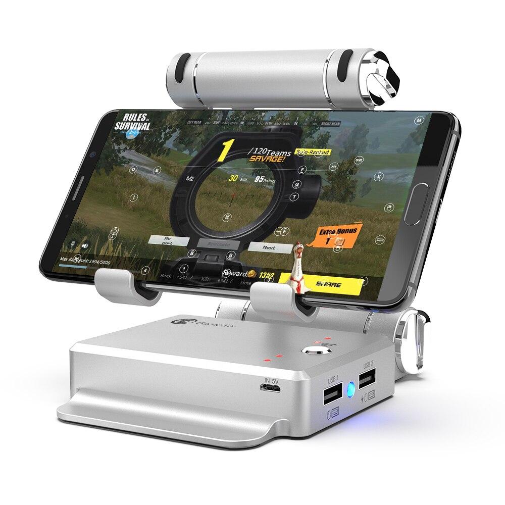GameSir X1 BattleDock Tastatur und Maus Konverter für Heißer FPS, RoS, Mobile Legende spiele, Telefon Halter, power bank