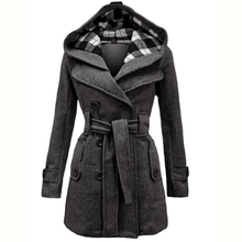 Hooded peacoat women online shopping-the world largest hooded
