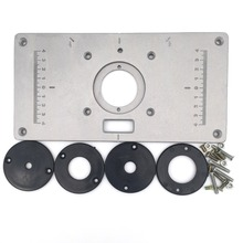 Buy router table plate and get free shipping on aliexpress aluminum router table insert plate wood router trimmer with 4pcs insert rings for woodworking benches engraving keyboard keysfo Choice Image