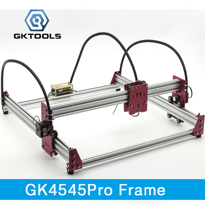 GKTOOLS 45*45cm DIY Mini CNC Laser Engraver Cutter Engraving Machine All Metal Frame Benbox GRBL EleksMaker Best Gift for Marker