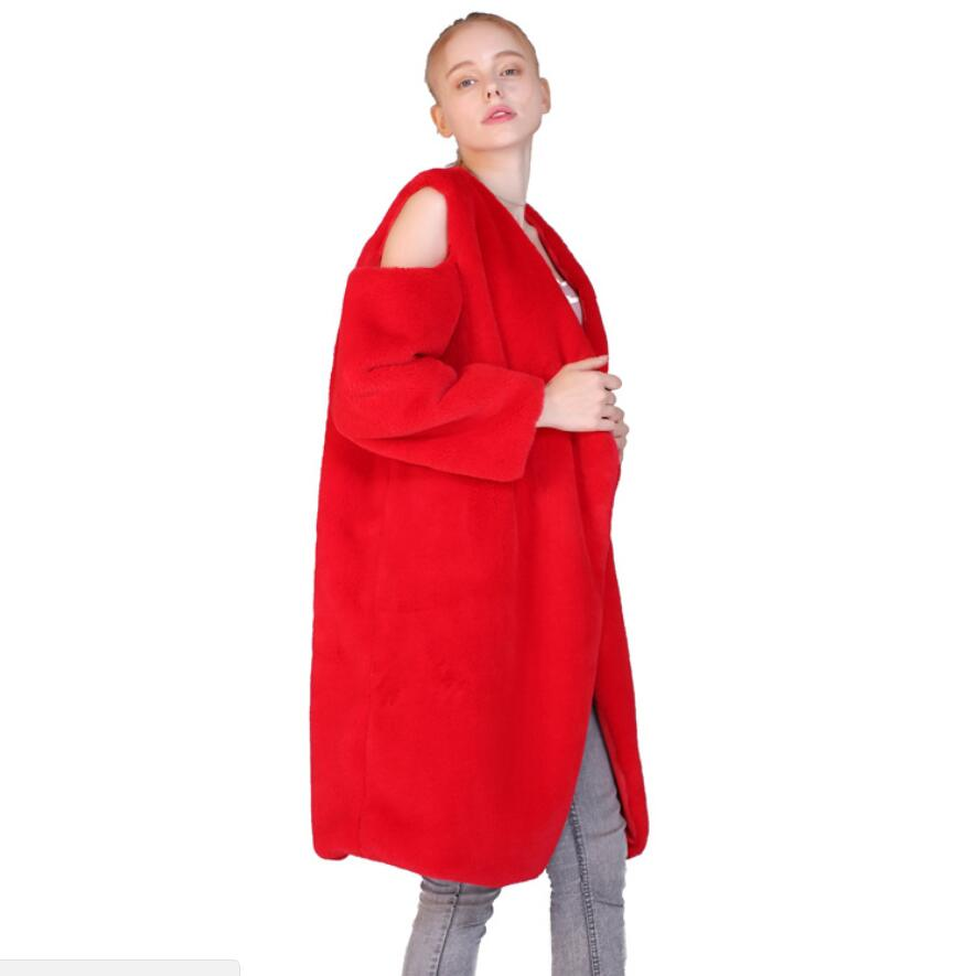 online store 71c7b 8c3fd bianco Faux Inghilterra Rosso Casual Senza Cappotto Lungo ...