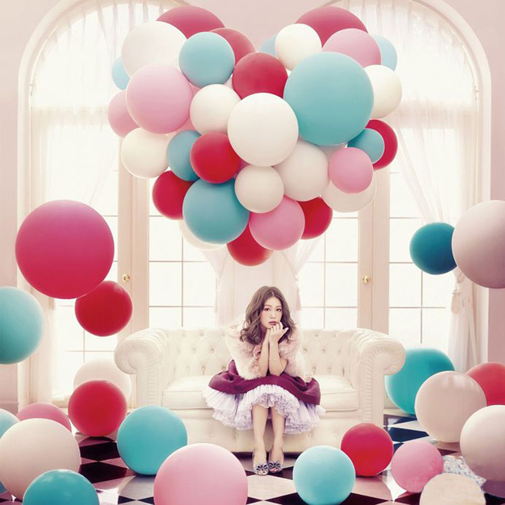 36 inch Big Round Latex Colorful Balloon Wedding Decoration Baloons Baby Birthday Party Valentines Day Decor Giant Balloon P30