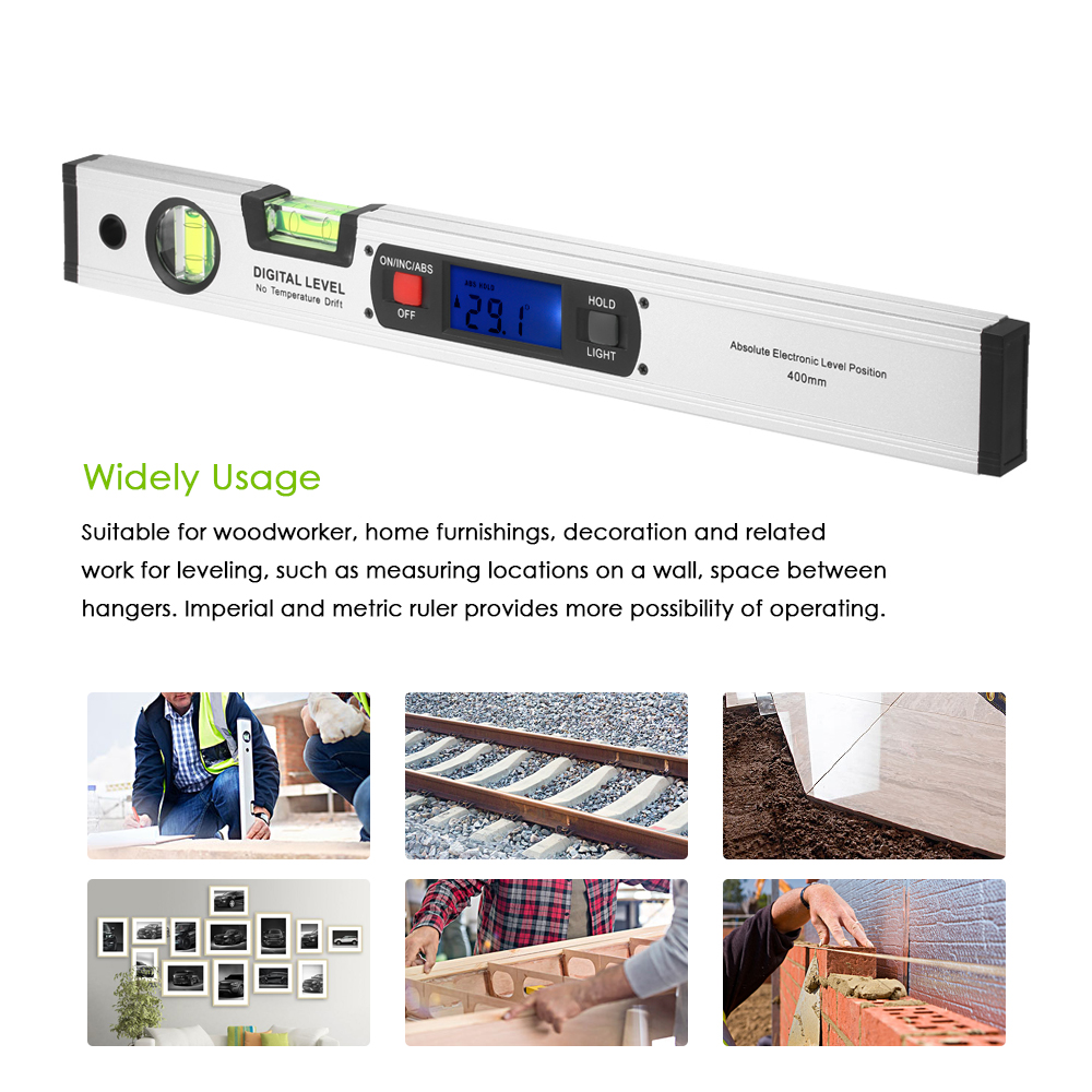 High precision Digital Angle Finder Range Spirit Level Angle Meter Upright Inclinometer with Magnets Protractor Ruler handy digital angle meter with level 0 185 degrees