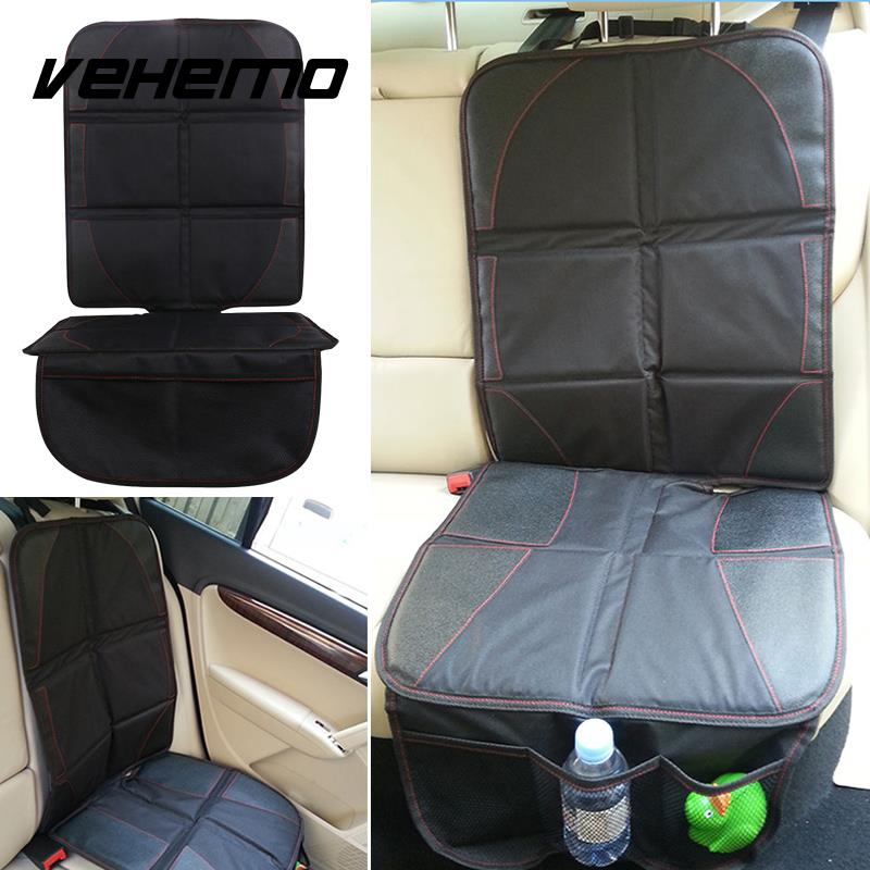 Vehemo Black Car Seat Back Protector Cover for Children Kids Kick Mat Protects