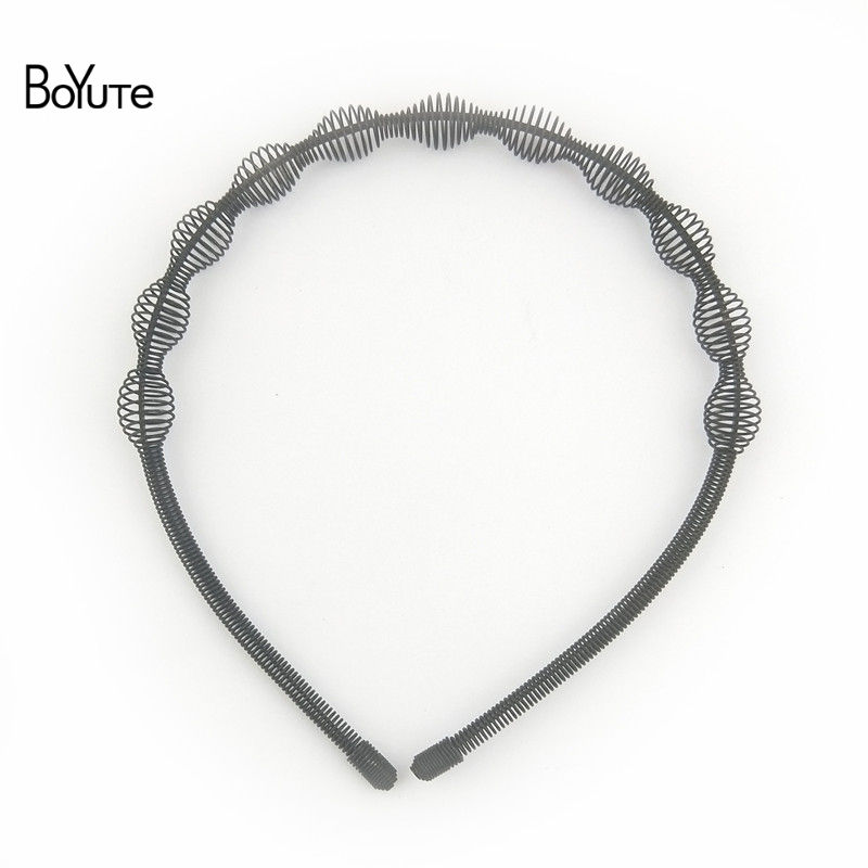 BoYuTe Retail 1 Piece Metal Black Hair Band Hairband New Style Black Color Metal Headband (6)