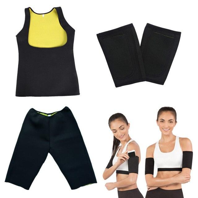 Slimming Pants Vest Neoprene Body Shapers Belt Sweat Sauna Modeling Strap Waist Trimmer Trainer Arm Sleeves Corset Shapewear