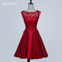 Новое короткое женское атласное кружевное платье с высоким воротом