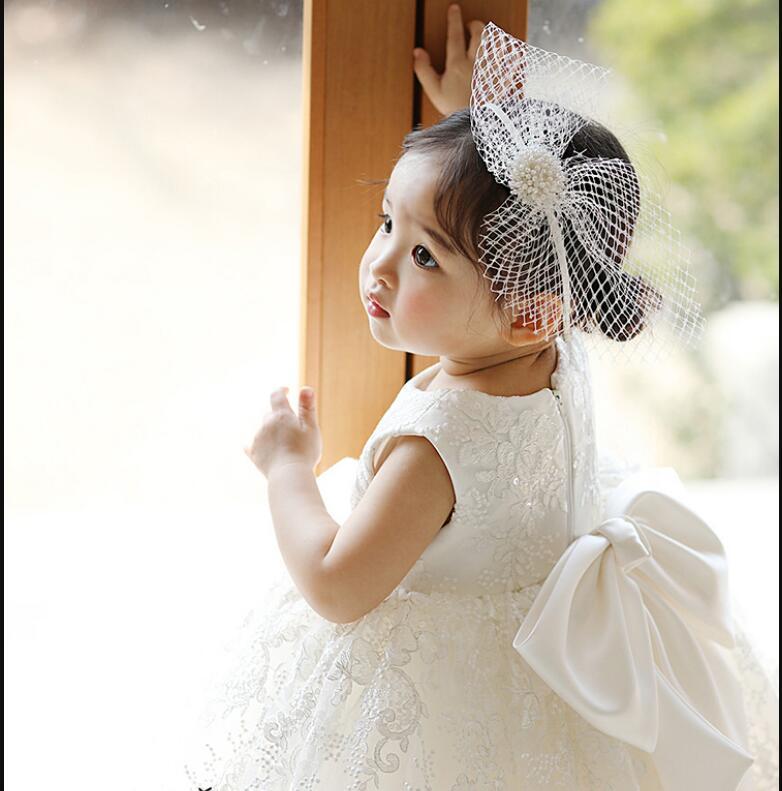 tule baptismo vestidos para meninas 1st ano