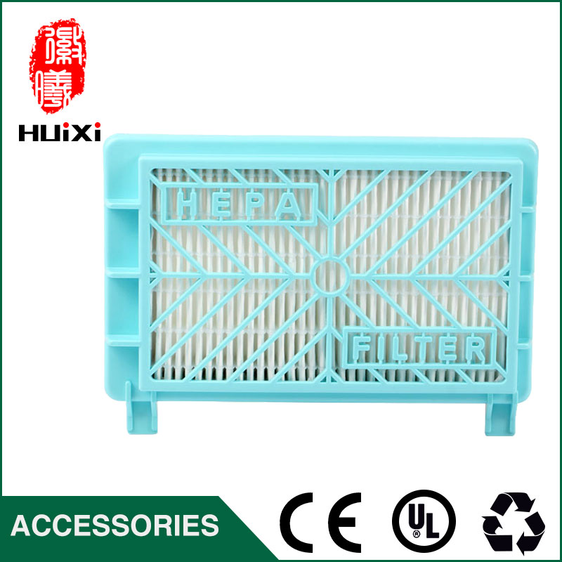 One pieces blue long hepa filter and the original of vacuum cleaner parts  replacement for air hepa filter HR8981 HR8568/D 142 126mm size plastic and steel wire frame hepa filter and the original of hepa vacuum cleaner parts for gy308 15l gy309 18l