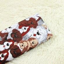half meter twill cartoon dog print fabric handmade DIY garment dress cloth 100% cotton A844