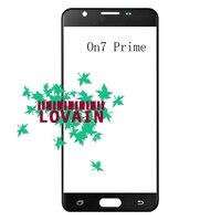 LOVAIN 50PCS Black White Gold Original For Samsung Galaxy On7 Prime G611 G611F Front Glass Lens