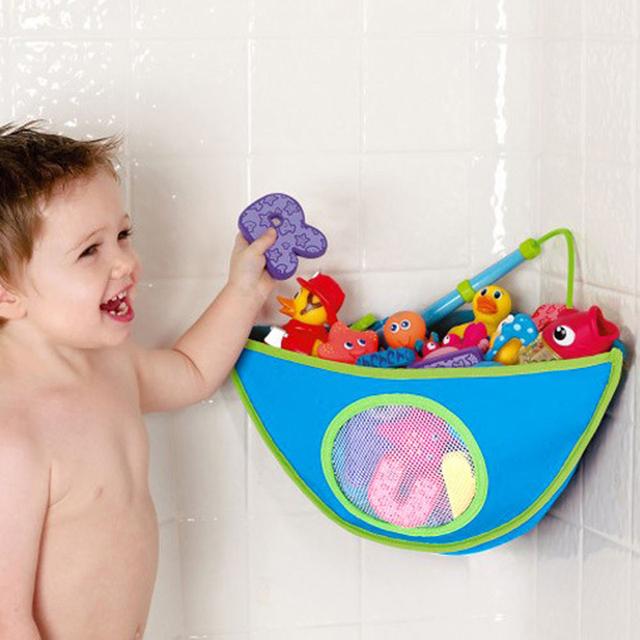 Brinquedo do Banho do bebê de Canto Triângulo Ventosa De Armazenamento Arrumado Saco Titular