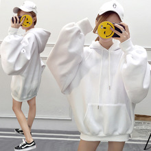 Solid  oversized hoodie women floral o-neck female mama winter casual long sleeve pullovers sweatshirts