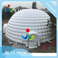 Dia 21 м гигантский ПВХ брезент надувные события купол палатка с четырьмя двери распродажа