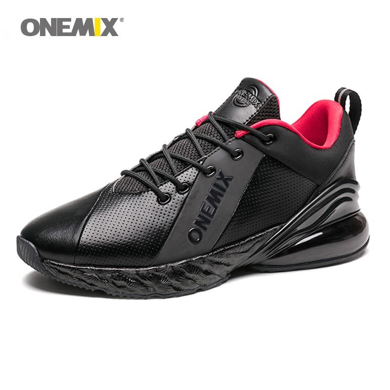 ONEMIX Air 270 chaussures de course respirantes pour hommes Sport nouvelles chaussures de jogging coussin d'absorption des chocs semelle intermédiaire souple en cuir Max chaussures