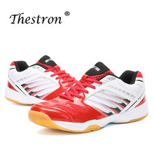 Thestron Couples Badminton Shoes Non Slip Trainers Shoes For Men Spring Autumn Fitness Women Sneakers Red Blue Indoor Sport Shoe цена 2017