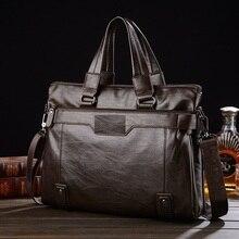 2016 New Men'S Leather Handbag Fashion Men'S Bags Shoulder Messenger Bag