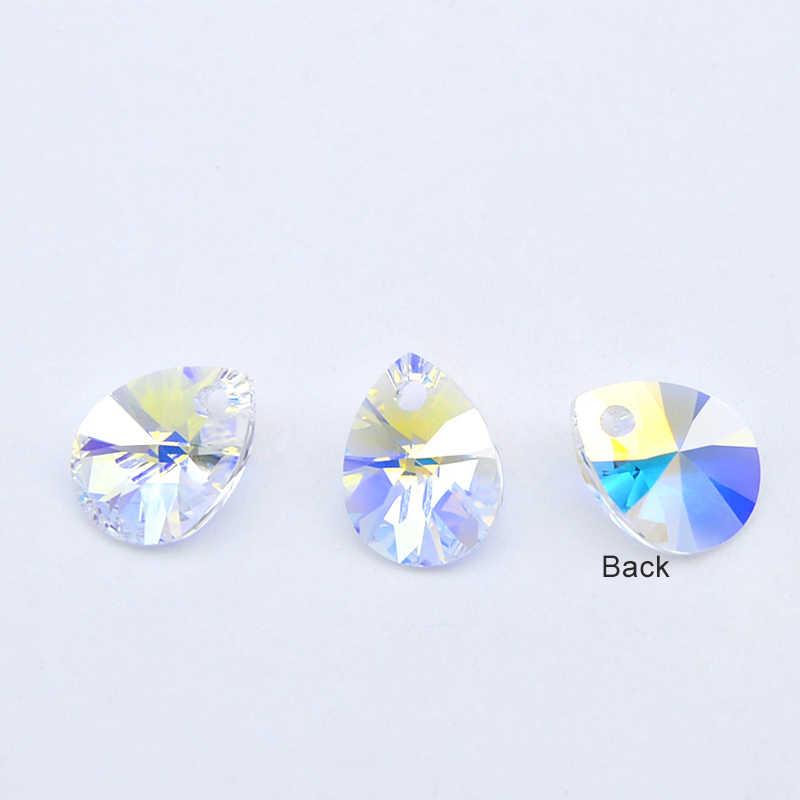 (1 pieza) 100% CRISTAL DE Swarovski ORIGINAL 6128 Mini colgante de pera XILION HECHO EN AUSTRIA diamantes de imitación para hacer joyería DIY