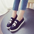 New Fashion Women Shos Platform Low Canvas Flats Loafers Casual Breathable Student Shoes