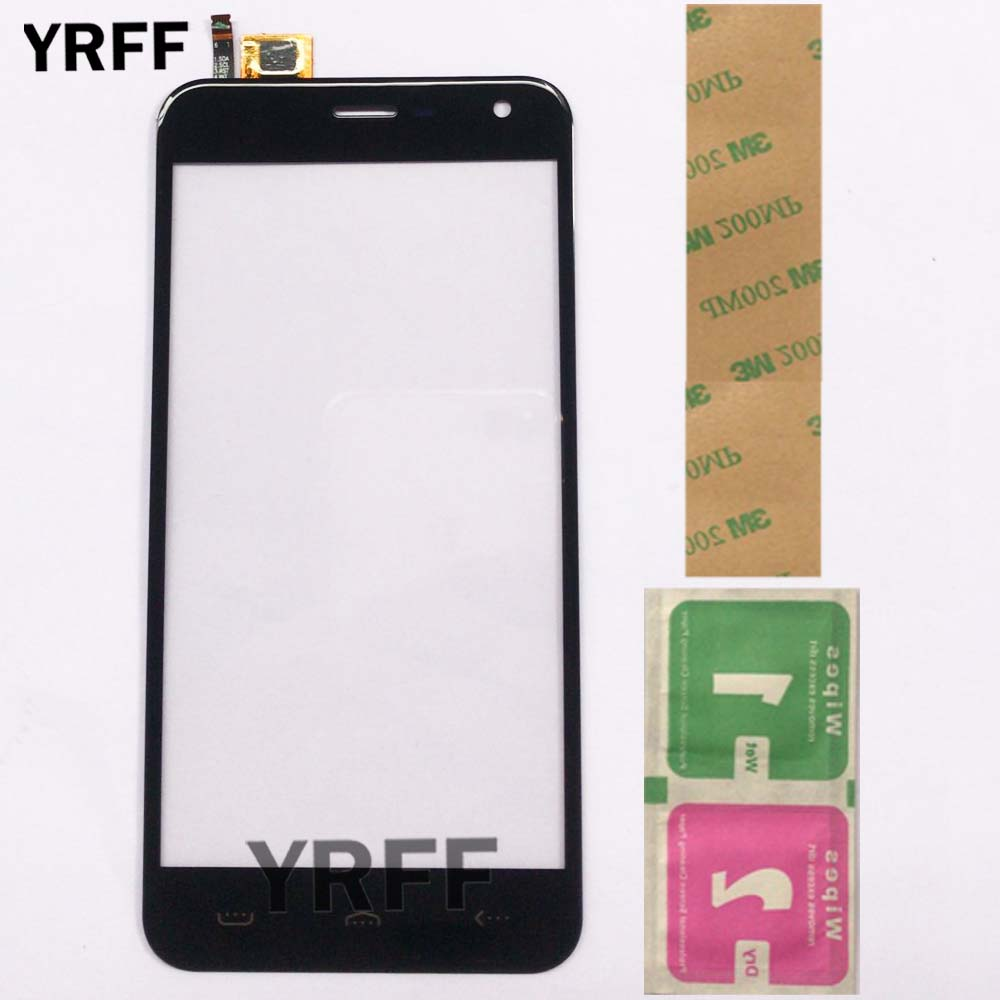 5.0'' Touch Screen Panel For Homtom HT3 / HT3 Pro Touch Screen Touch Digitizer Panel Front Glass Phone Mobile Adhesive Wipes(China)