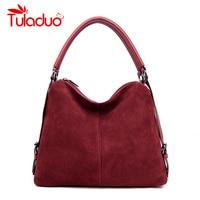 Luxury Real Split Suede Bags For Women 2018 Vintage Nubuck Leather Bags Handbags Women Famous Brands Tote Messenger Shoulder Bag