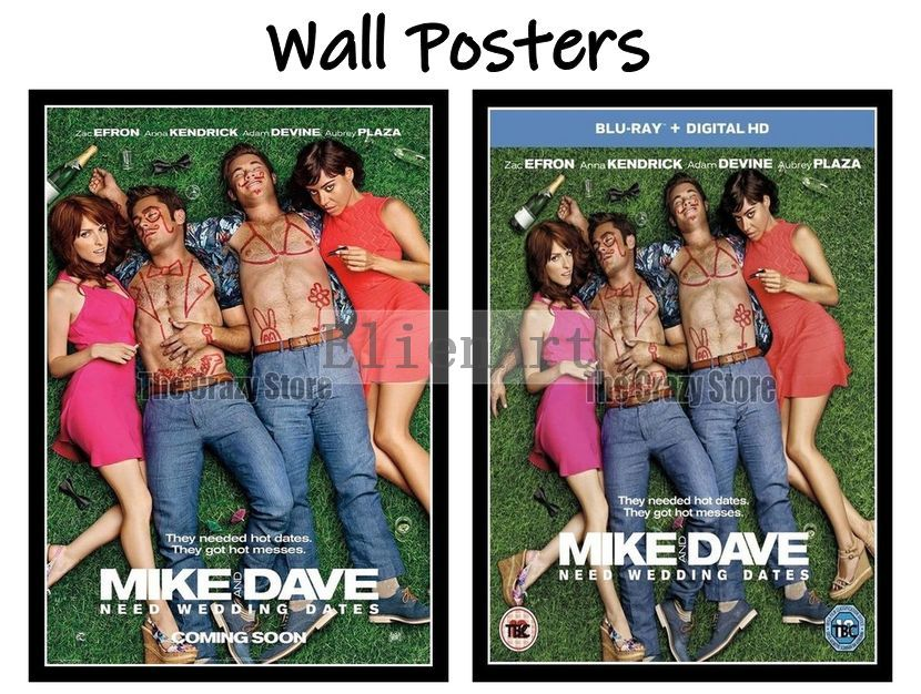 Mike And Dave Need Wedding Dates Full Movie Online.Us 2 9 Mike And Dave Need Wedding Dates Movie Home Decorative Painting White Kraft Paper Poster 42x30cm In Wall Stickers From Home Garden On