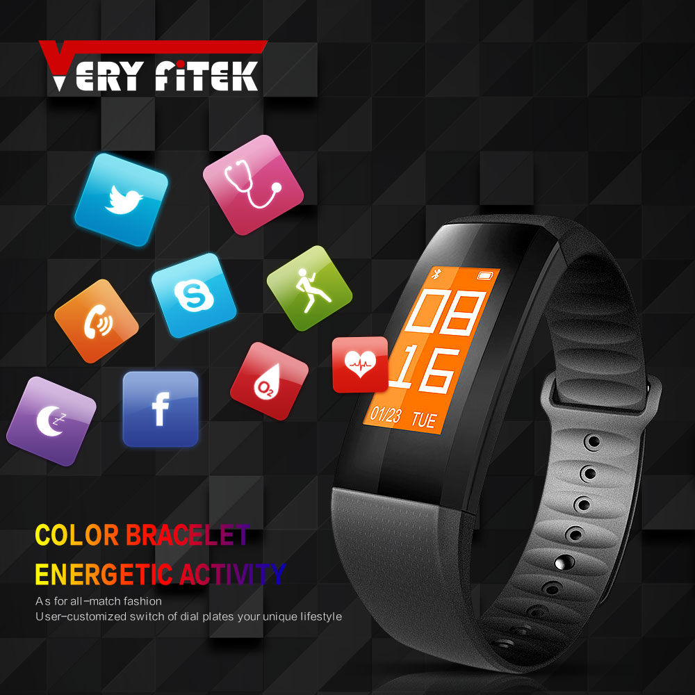 Veryfitek V8 Color Screen Smart Wristband Band Heart Rate