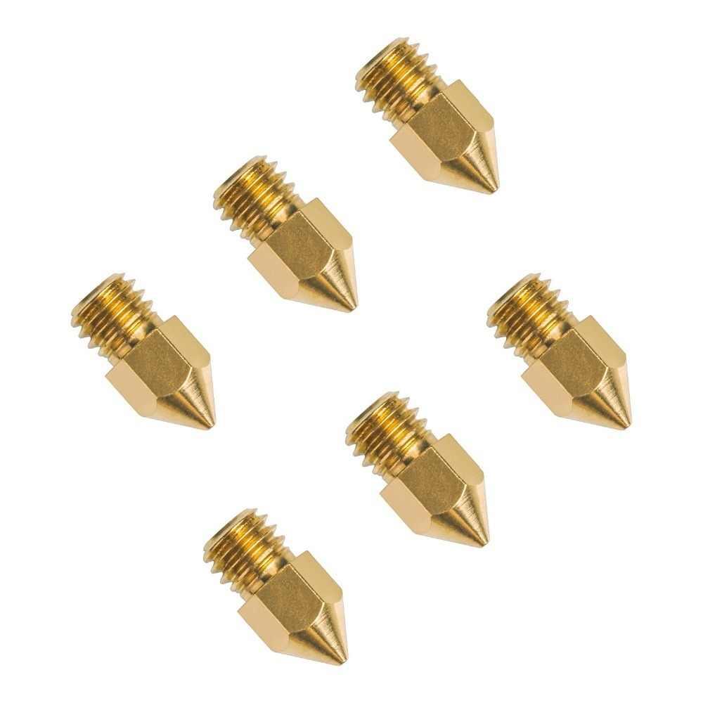 طابعات ثلاثية الأبعاد أجزاء Mk7 Mk8 فوهة 0.2 0.3 0.4 0.5 0.6 0.8 مللي متر النحاس الطارد الخيوط 1.0 مللي متر 1.75 مللي متر 3.0 مللي متر خيوط رئيس النحاس الفوهات