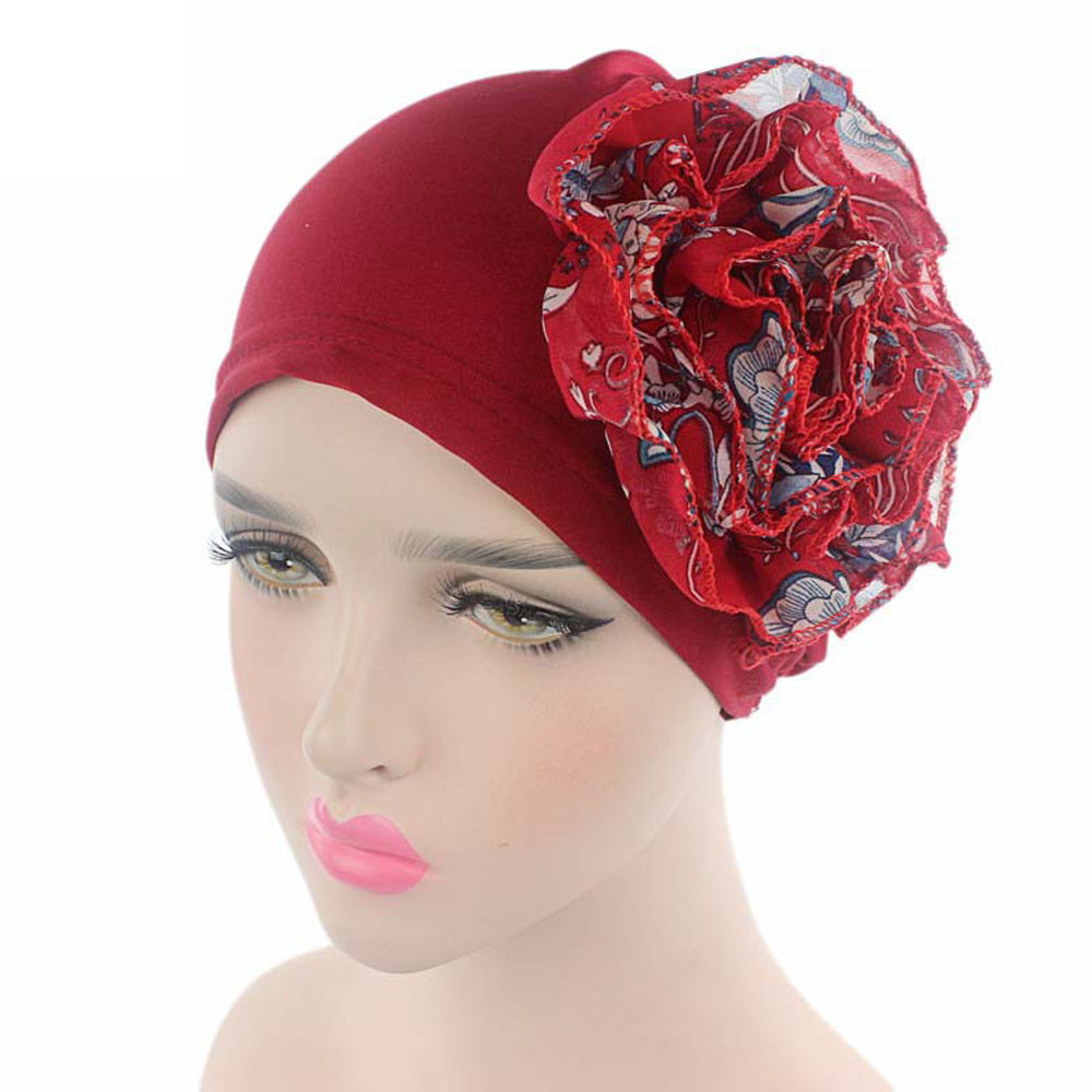 2017 LKF Hot!Caps Women Hat Summer Fashion Casual Women Flower Cancer Chemo Hats Beanie Scarf Turban Head Wrap Cap  Y8073 fashion handpainted palm sea sailing pattern hot summer jazz hat for boys