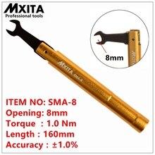 Mxita smaトルクレンチrfコネクタ開口8ミリメートルelectrommunication同軸アダプタコンバータストレートgoldplatedスパナ