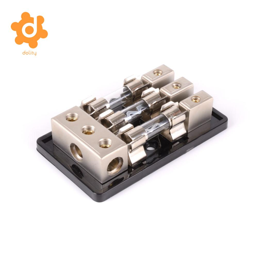 3 Way 3x Agu In Line Fuse Holder Distribution Block Car