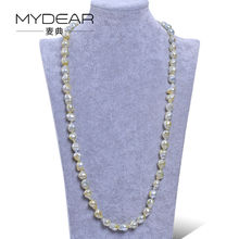 MYDEAR Fine Pearl Jewelry 9-12mm Natural Baroque Tahitian Pearls Necklaces Long Sweater Chain,Fashion Necklaces For Women 2016