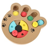 Pet Dog Puppy Cats Interactive Toys Small Dog Wooden Eco Friendly Educational Pet Bone Paw Puzzle
