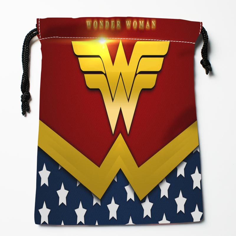 Custom Wonder Woman Logo Drawstring Bags Custom Storage Bags Storage Printed Gift Bags More Size 27x35cm Compression Type Bags