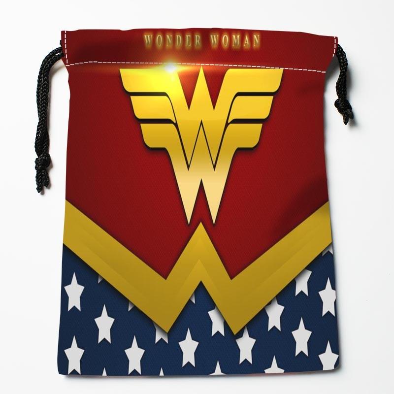 Custom Wonder Woman Logo Drawstring Bags Custom Storage Bags Storage Printed Gift Bags More Size 27x35cm Compression Type Bags