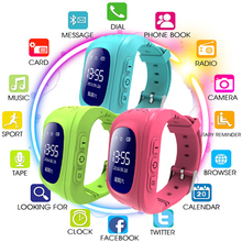 TOP Q50 OLED Screen GPS Smart Kid Watch SOS Call Location Finder Locator Tracker for Childreb Anti Lost Monitor Baby Wristwatch