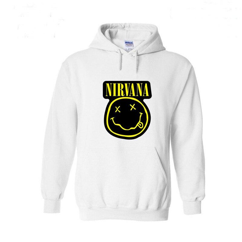 Nirvana Smiley Face Black Pullover Hoodie Sweatshirt