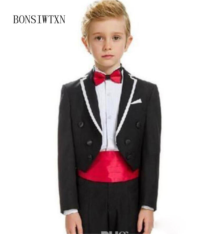 BONSIWTXN 2019 England Boys Suits Set Formal Boys Baby Clothes children Wedding clothing Blazer Piano Costume back to school