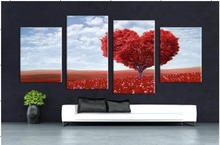 4 Piece Canvas Art Printing Love poster series Painting Custom Canvas Print On Canvas Printing Wall Pictures Home Decoratio цены онлайн