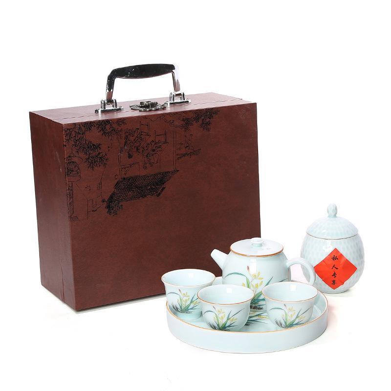 Chine thé à thé Gaiwan Traditions chinoises Kung Fu thé ensembles chinois en céramique os porcelaine thé tasse Kung Fu théière ensemble cadeau
