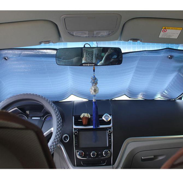 2Pc Car Curtains Casual Foldable Car Windshield Visor Cover Front Rear Block Window Sun Shade Sunblind For Auto Car Accessories