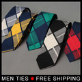 2017 Newest Man Cotton Plaid Ties Necktie For Mens Suits Casual Design Men's Tie Neckwear For Wedding Classic Male Ties