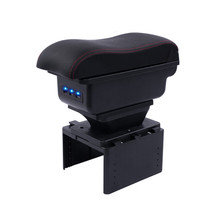 For new nissan micra Armrest box central Store content box with cup holder ashtray new micra 2017 k14
