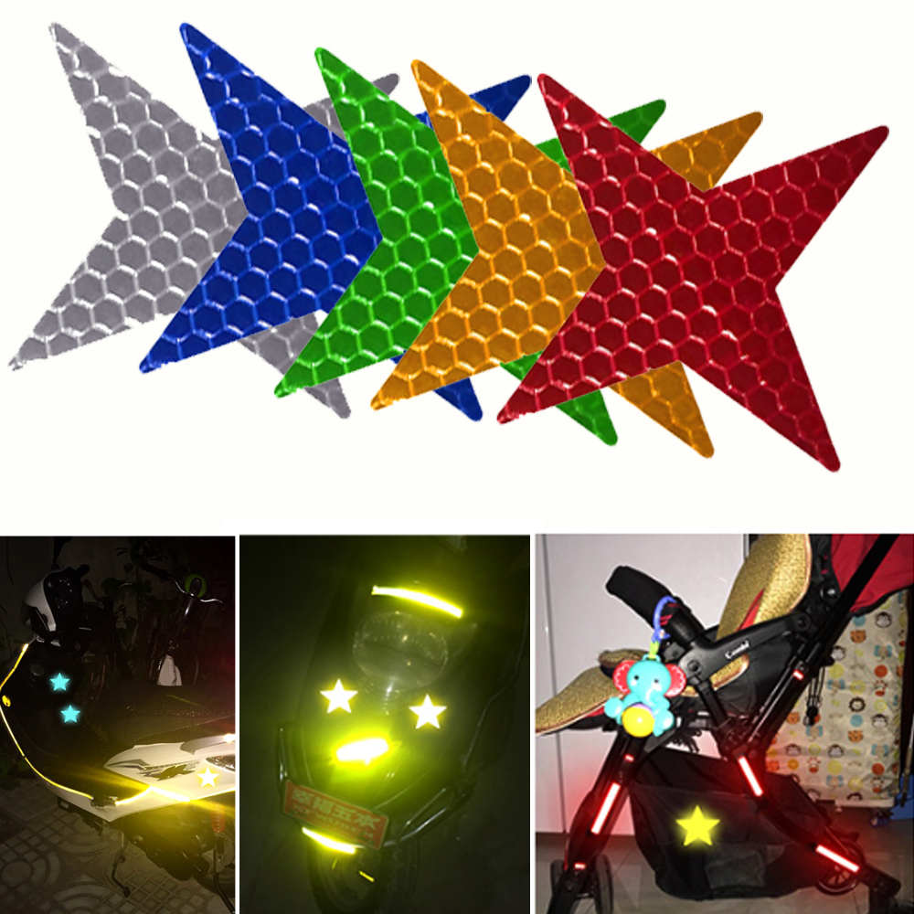 For Motorcycles Bicycles Backpack Scooter Reflective Tape Waterproof Self-Adhesive Reflective Safety Tape Reflector Conspicuity