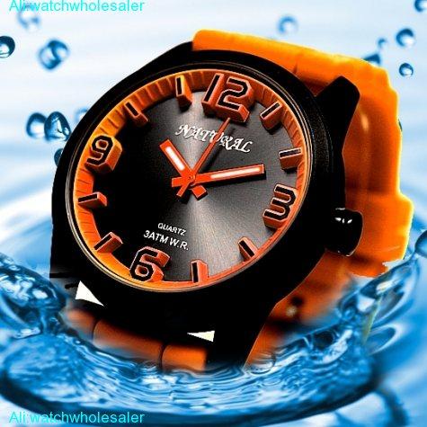 FW848H Water Resist Silicone Orange Band Boy Girl 100% Tested 3ATM Fashion Watch