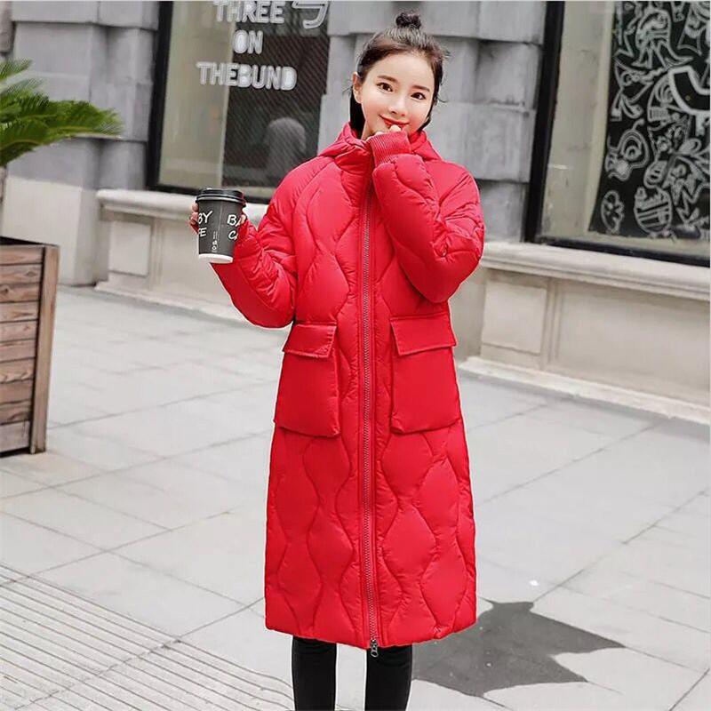 Capuchon rose blanc Parka Taille Survêtement orange Veste Femelle Manteau Solide Épaissir rouge La 2xl D'hiver Et À Femmes Noir Chaud Poche Large Grande Plus Longue taille C4qFgPw