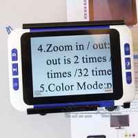 """BOBLOV 2-32X 3.5 """"couleur LCD lupa lecture électronique loupe numérique basse Vision pour aide à la lecture loupe electronique vergrootglas"""