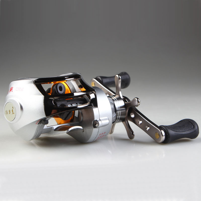 ФОТО FREE SHIPPING Dynamic low profil baitcasting reel drop round lure wheel 10 bearing hand wheel fasion white color