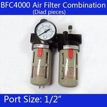 """BFC4000, 1/2 """"Hava Filtresi Regülatörü Kombinasyon Yağlayıcı, FRL Iki Sendika Tedavisi, BFR4000 + BL4000"""