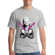 1595e53f5975 Funky t shirts Marilyn Monroe Gangster Guns Tattoo Cool men t shirt 2018  Summer Anime T-shirts tee shirt homme Size M-XXXL